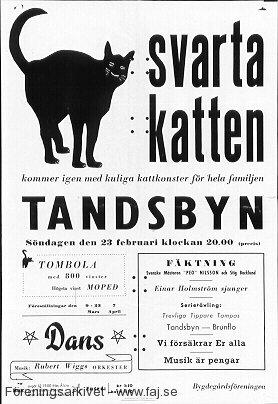 Tandsbyns bygdegårdsförening, 1958